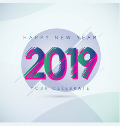 Happy new year 2019 template design vector