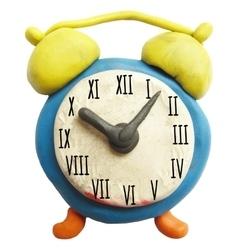 Icon of plasticine alarm clock vector