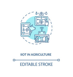 Iiot in agriculture concept icon vector