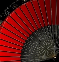 image of red fan vector image