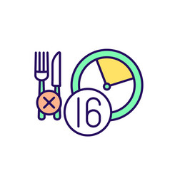 Intermittent fasting strategy rgb color icon vector