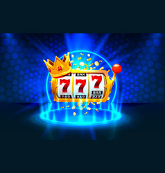 King slots 777 banner casino on blue vector
