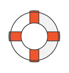 Life ring color icon vector