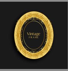 Luxury vintage golden antique frame design vector