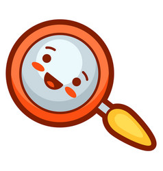 Magnifier in cartoon style cute vector