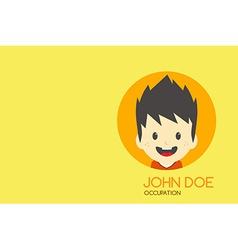 man cartoon theme business card vector image