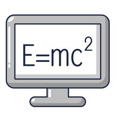 monitor icon cartoon style vector image