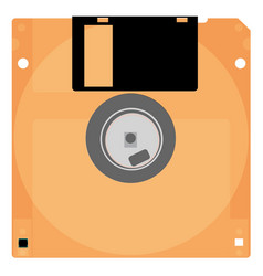 Old floppy outdated computer technology vector