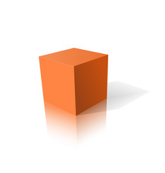 Orange cube 3d vector