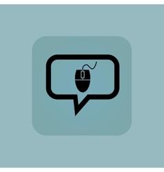 Pale blue mouse controller message vector