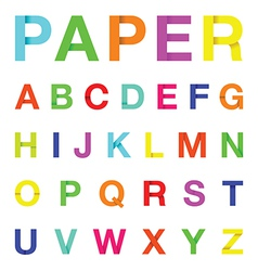 Paper letters colour vector