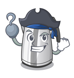 Pirate electric stainless steel kettle on vector