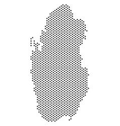 Pixel qatar map vector