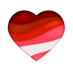 red heart cutting from paper abstract art vector image