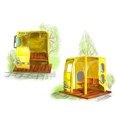 School bus stop vector