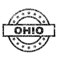 scratched textured ohio stamp seal vector image