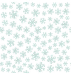 seamless art pattern with snowflakes on white vector image
