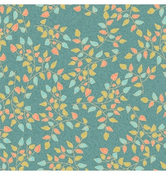 seamless RETRO floral background vector image