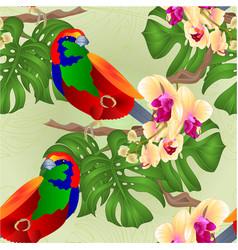 seamless texture tropical bird vector image