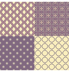 set four seamless abstract patterns vector image