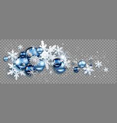 snow star balls vector image