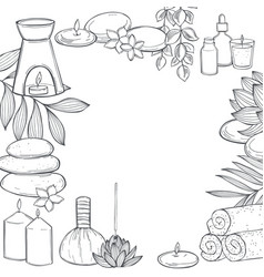 Spa treatment and aromatherapy background vector