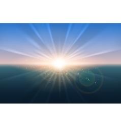 Sunrise glow background vector