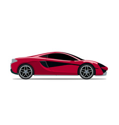 super red sports car vector image