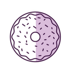 Sweet and delicious donut vector