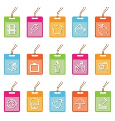 tag icons on white vector image