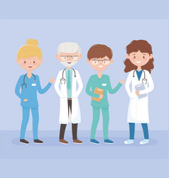 team medical staff professional practitioner vector image