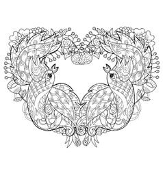 the Firebird Peacock vector image