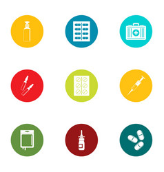 Therapeutic icons set flat style vector