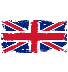 Threadbare flag of Great Britain vector