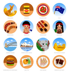 travel to australia set of traditional cultural vector image