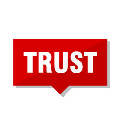 Trust red tag vector