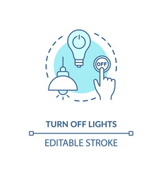 Turn off light turquoise concept icon vector