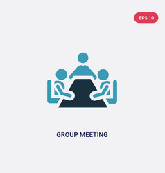 two color group meeting icon from people concept vector image
