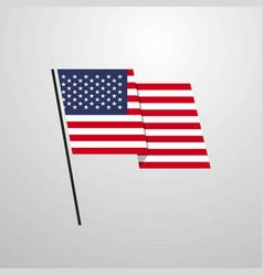 united states of america waving flag design vector image