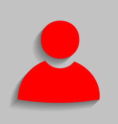 user sign red icon with soft vector image