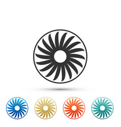 ventilator symbol icon isolated ventilation sign vector image