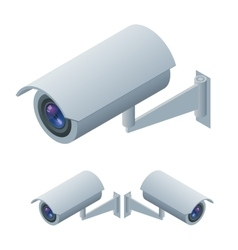 Video surveillance isometric Surveillance and CCTV vector