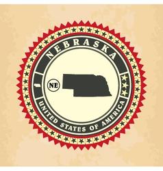 vintage label-sticker cards nebraska vector image