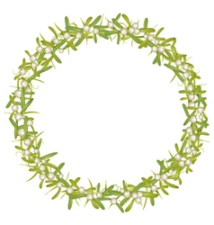 Wreath with mistletoe vector