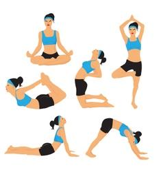 Yoga vector image