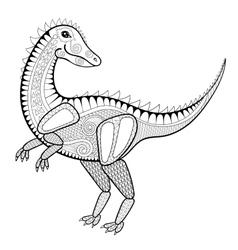 Zentangle dinosaur vector