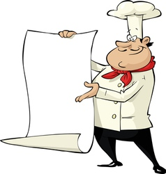 chef with menu vector image vector image