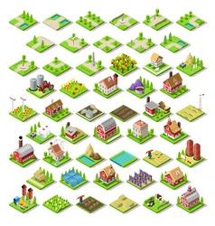 City Map Set 03 Tiles Isometric vector image