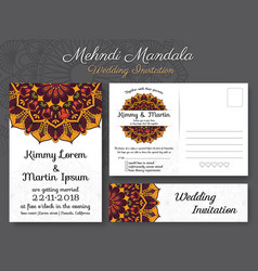 classic vintage wedding invitation card design vector image