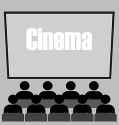 people in the cinema vector image